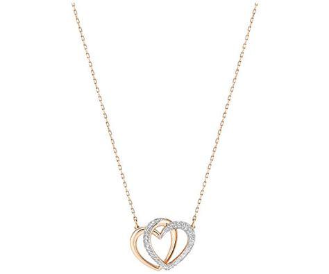 icon design kette dear necklace medium white rose gold plating