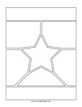 printable manga page with star