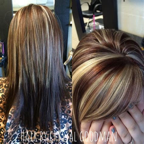 best medium length blonde style for fair warm skin tone but heavy body shape hair by crystal goodman medium length hair warm brown