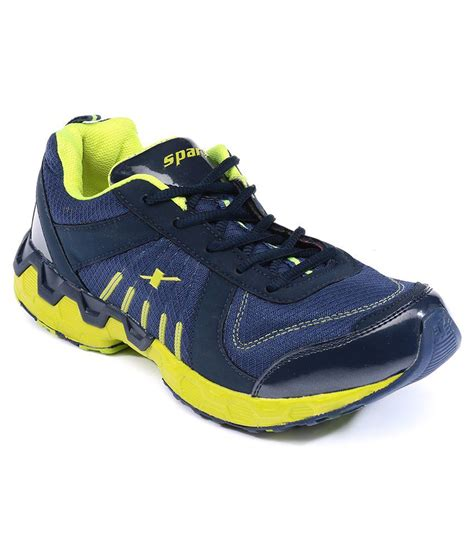 navy blue sports shoes buy sparx navy blue green sports shoes for
