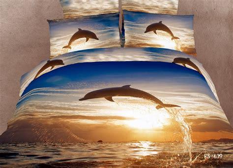 cotton bed linen brown dolphin bedding set quiltduvet
