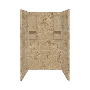 Corian Lowes Shop Style Selections Sand Mountain Shower Wall Surround