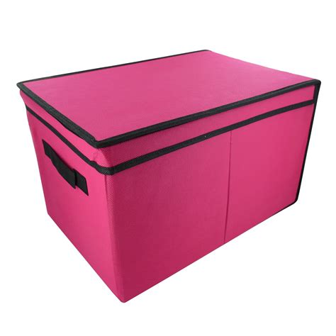 canvas storage containers home bedroom tote canvas storage box foldable lid