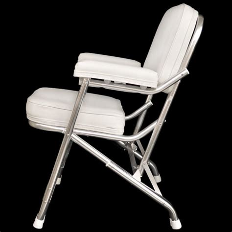 Folding Boat Deck Chairs by Custom White Boat Folding Deck Chair Seat 75001w Ebay