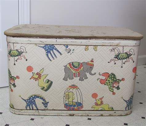 Mid Century Folding Chair by Vintage Circus Toy Box 1950s