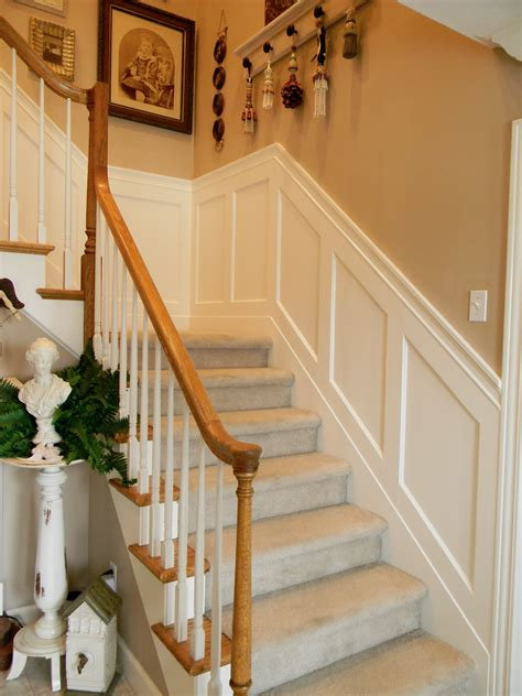 Wainscoting Design by Forever Decorating Stairwell Wainscoting
