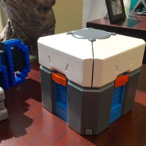 Overwatch Loot Box 3d Model 3d printable overwatch loot box by crain makes