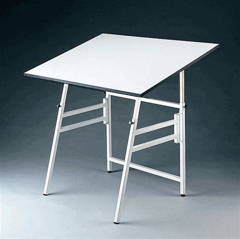 White Drafting Table Alvin Professional Folding Drafting Table White Base 24x36 Top