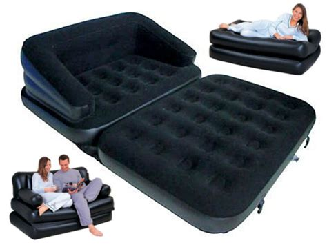 5 in 1 flocked sofa bed mattress lounger airbed chair 5025301881702 ebay
