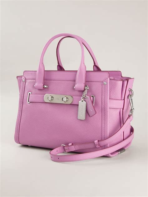 Coach Bag Pink by Lyst Coach Swagger Tote Bag In Pink