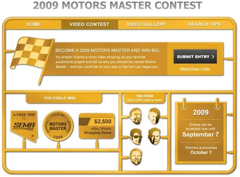 contest page contest post your project vid become an ebay motors master