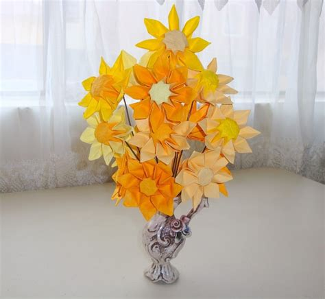 Origami Sunflower - origami sunflower paper flowers origami