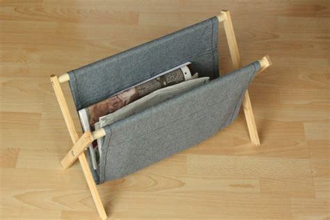 sewing pattern magazine holder how to make a simple rustic folding magazine rack from