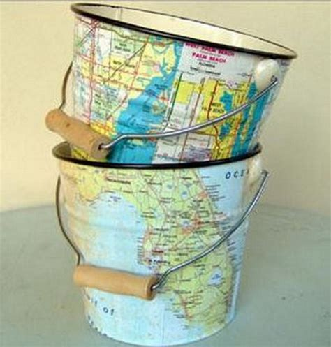 Decoupage Furniture With Maps - interior decoration with maps 25 ideas for self design