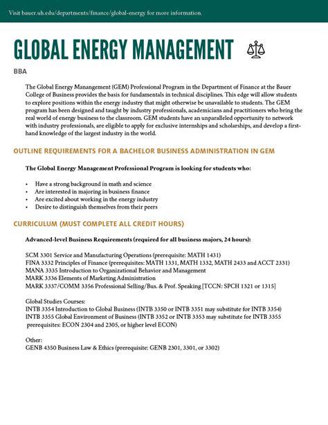 Global Energy Executive Mba Of Houston by Educational Programs In Energy Of Houston