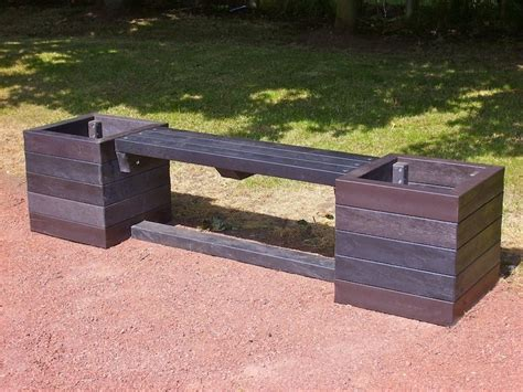 planter seat bench ribble planter bench recycled plastic kedel co uk