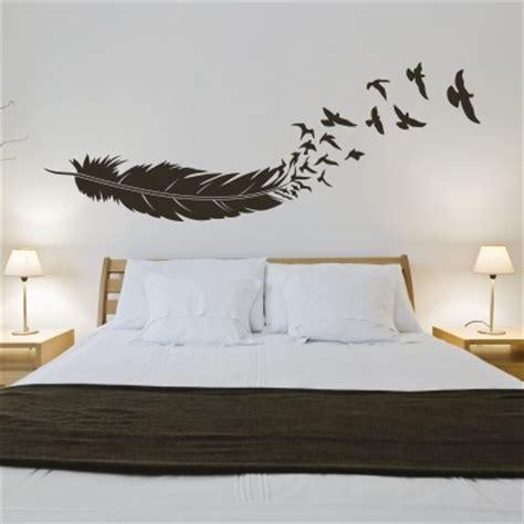 cuscini giganti da interno adesivo murale uccelli in volo dalla piuma stickers murali