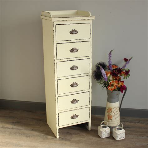Slim Dresser Drawers by Antique White Slim Chest Of Drawers Melody Maison 174