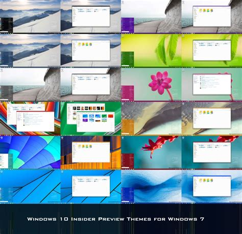 themes for windows 10 preview windows 10 insider preview themes for windows 7 by