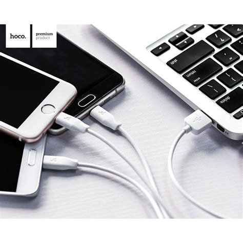Diskon Hoco X1 Usb Type C Charging Cable 1m For Smartphone Kabel Usb hoco x1 3 in 1 lightning micro usb and usb type c charging cable 1m for iphone and smartphone
