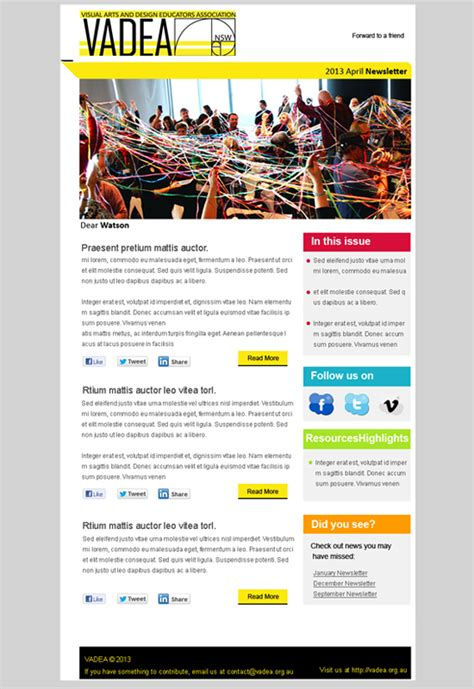 newsletter design hotswots digital marketing agency sydney