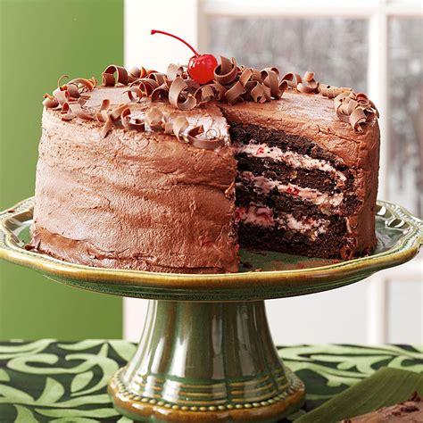 cherry chocolate layer cake recipe taste of home