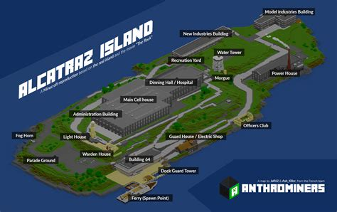 Minecraft   Alcatraz Island by McTaylis on DeviantArt