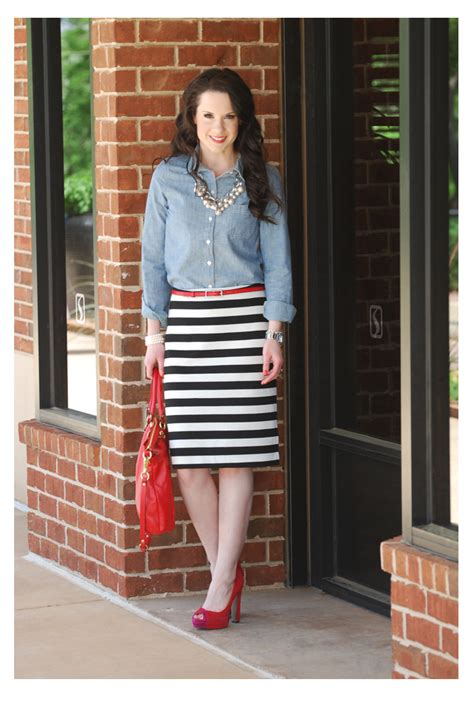 L and the stripe skirt .   The Double Take Girls