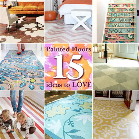 painted floor ideas 15 painted floors you re gonna love pretty handy girl