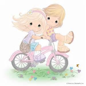 precious moment precious moments ni 241 as en bicicleta