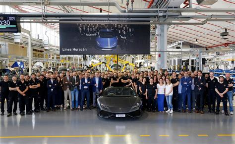 lamborghini headquarters lamborghini huracan production hits 8000 milestone