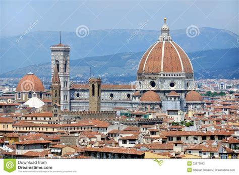 fiore italy cathedral santa fiore florence italy stock
