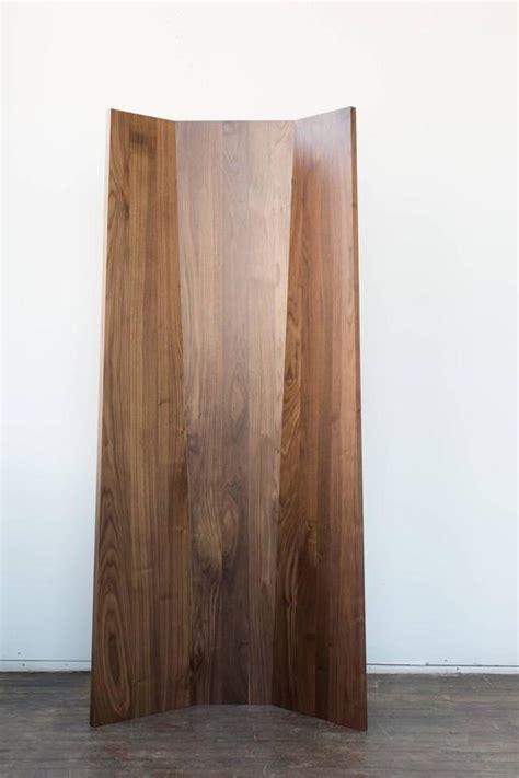 tri fold screen room divider handmade tri fold solid walnut folding screen or room divider for sale at 1stdibs