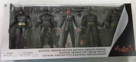 arkham figure 5 pack batman arkham collection asylum city origins