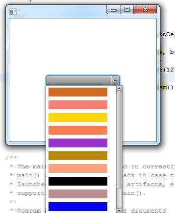 javafx color javafx 2 display color in combobox stack overflow