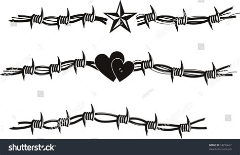 barbed wire vector tattoo 14296627 shutterstock