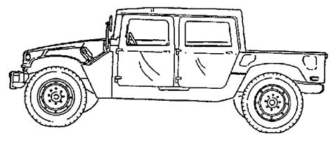 army hummer coloring pages military hummer drawing