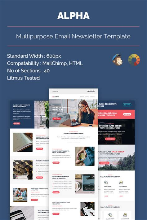 Alpha Email Newsletter Template Yahoo Business Website Templates