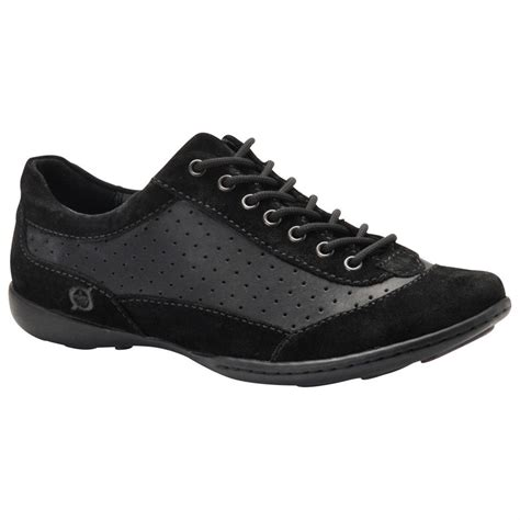 s born 174 suede shoes black 168218 casual