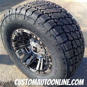 Pvd chrome with black inserts lt325 60r18 nitto terra grappler g2