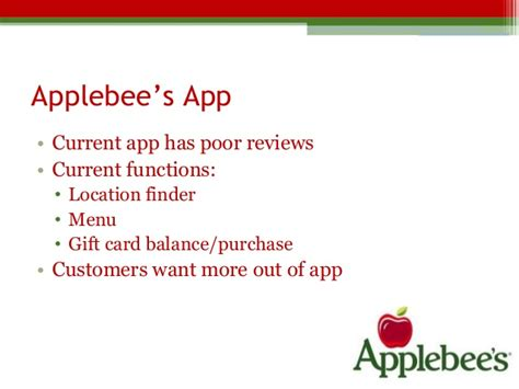 Www Applebees Com Gift Card Balance - applebee s digital marketing plan