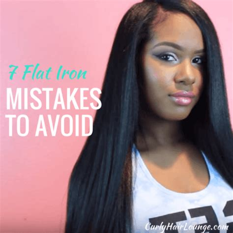 7 Hair Coloring Mistakes To Avoid by 7 Flat Iron Mistakes To Avoid Curly Hair Lounge