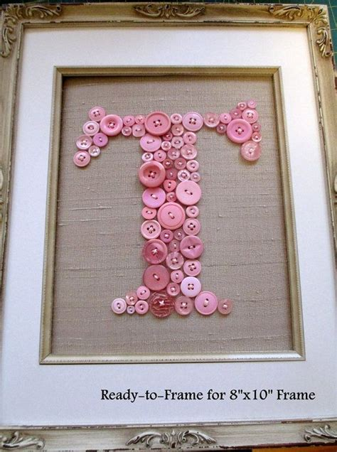 Lettre Decorative Pour Chambre Bébé by Personalized Baby Nursery Button Kid Wall