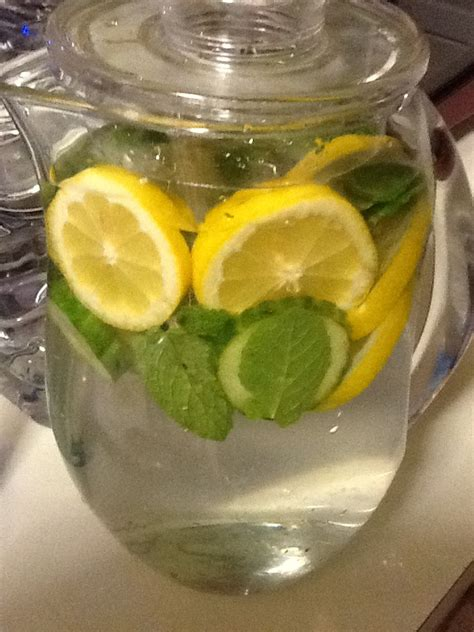 Detox Drink With Lemon Cucumber And Mint Leaves by Detox Lemon Water Cucumber Mint Leaves Steep