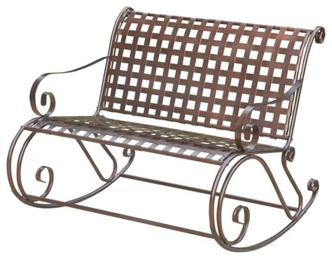 iron rocking bench mandalay iron bench rocker outdoor benches by