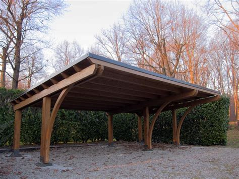 tettoia per auto in legno tettoia ricovero auto in legno lamellare r03310