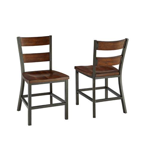 Metal And Wood Dining Chairs Home Styles Cabin Creek Dining Chair P And Dining Chairs Style Metal Side Chair Rustic