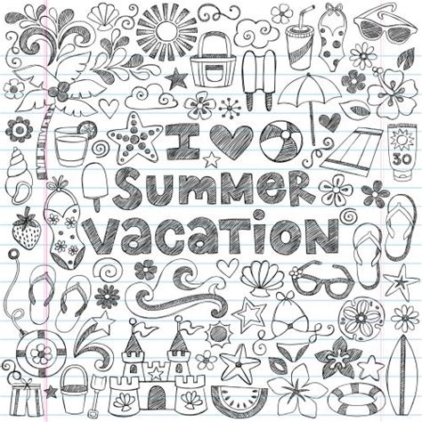 doodle page ideas summer vacation doodle page coloring summer vacations