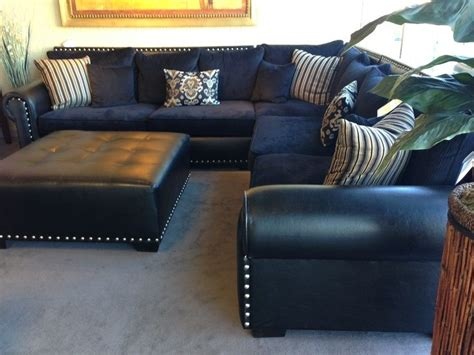 navy blue leather sectional sofa home furniture design