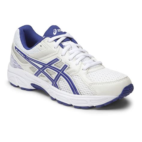 youth boys athletic shoes asics gel contend 3 gs boys running shoes white